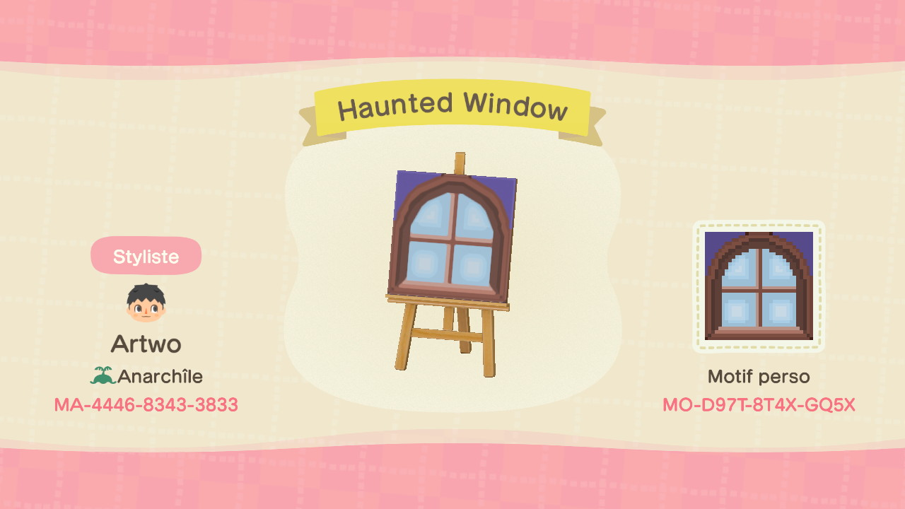 Haunted Window ACNH