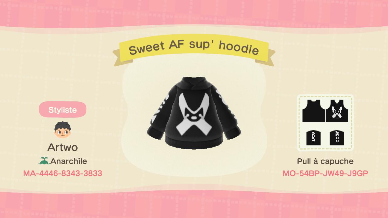 Sweet AF Sup' Hoodie ACNH