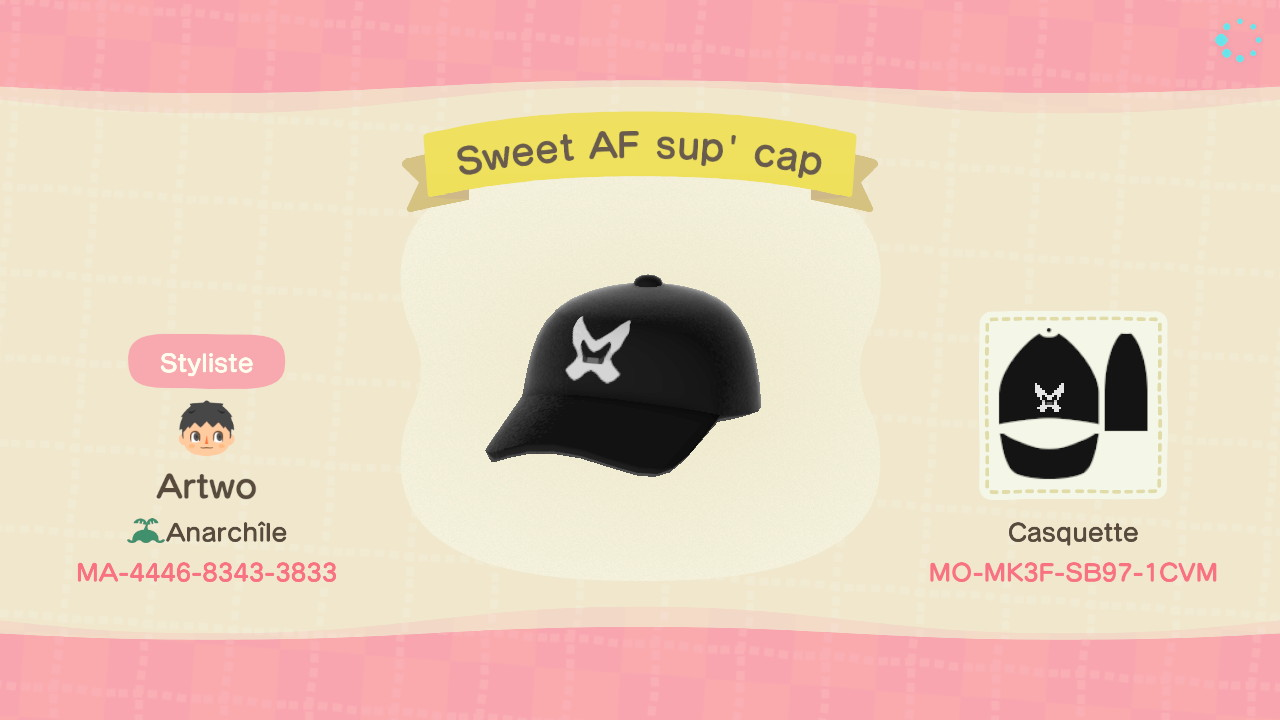 Sweet AF Sup' Cap ACNH