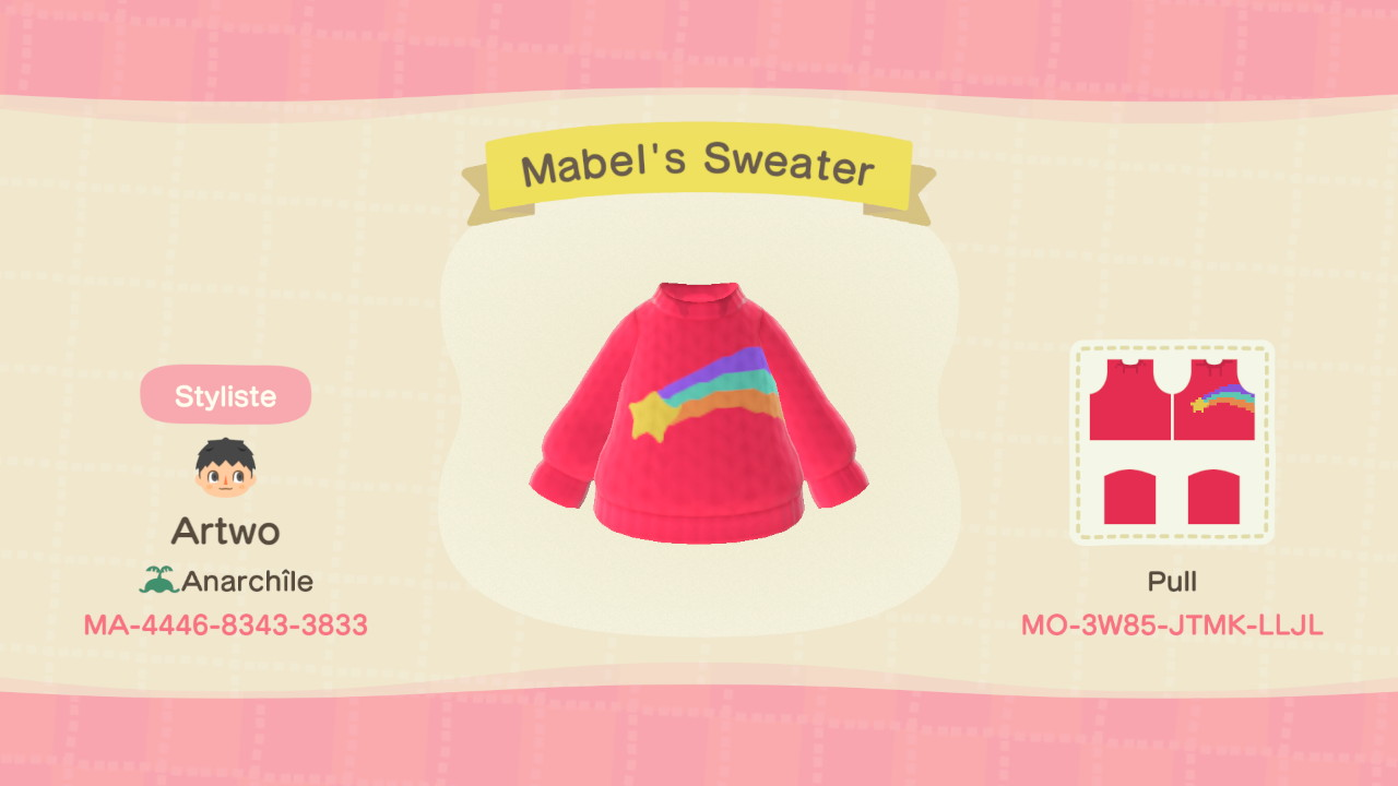 Mabel's Sweater ACNH